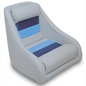 Wiseco 8WD120LS-1011 Grey/Navy/Blue Bucket Style Captain Chair