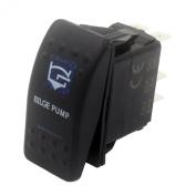 """SUNDELY® """"BILGE PUMP"""" 12V 24V ON/OFF Rocker Switch with Blue LED Backlit Carling ARB Narva Style"""