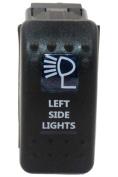 """SUNDELY® """"LEFT SIDE LIGHTS"""" 12V 24V ON/OFF Rocker Switch with Blue LED Backlit Carling ARB Narva Style"""