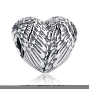 Wostu Heart Angel Wing In 925 Sterling Silver Beads Charm Fit For Friendship Bracelet
