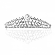 LEORX Women Hairband Hair Clip Wedding Bridal Crystal Rhinestone Studded Tiara