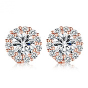 Presentski On Sale Stud Earring with Round Design Swiss CZ Crystal for Wedding Romantic Jewellery Collection