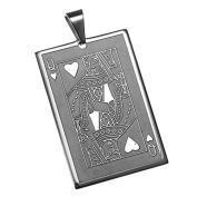stainless steel pendant Queen of hearts, Game map, Cards Game, Gambling