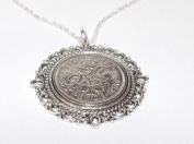 Fancy Pendant 1956 Lucky sixpence 60th Birthday plus a Sterling Silver 46cm Chain