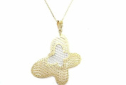 """NECKLACE YELLOW GOLD 18KT WITH PENDANT BICOLOR """"BUTTERFLY A NET"""" - PENDANT WHITE E YELLOW"""