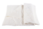 Luxury 100% Cashmere Baby Blanket - 'White' - hand made in Scotland by Love Cashmere - RRP £160