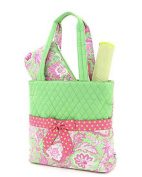 Belvah Quilted Floral 3pc Nappy Bag