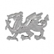 Dalaco Rhodium Plated Wales Dragon Tie Tac