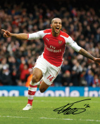 THEO WALCOTT - ARSENAL 10X8 Lab Quality Signed Photo Print