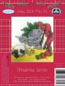 DMC Me to You Christmas Tatty Teddy Cross Stitch Mini Kit - Christmas Dinner