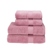 Christy Supreme Hygro Bathroom Towels 650 gsm 100% Cotton Exceptionally absorbent (Face Cloth 33cm x 33cm, Blush