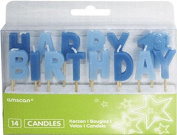 Amscan 14-Piece Pick Boy First Happy Birthday Candles Party Accessory