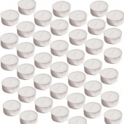 40 Maxi Large White Tealights - Unfragranced 8-10 Hours