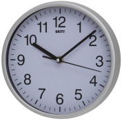 Unity Radcliffe Silent Sweep Wall Clock, Silver