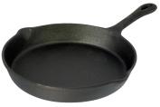 Buckingham 27 cm Pre-Seasoned Cast Iron Frying Pan/Skillet for Healthy Cooking, Black