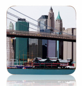 New York Pier 17 Coaster by Leslie Gerry