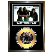 MOTORHEAD - SIGNED FRAMED GOLD CD & PHOTO DISPLAY