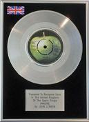 John Lennon - 18cm Single Platinum Disc - Imagine