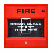 Sticar-it Ltd Funny Break Glass for Fire Alarm Novelty Motif Light Switch Sticker vinyl cover skin decal For Any Room