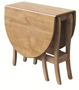 Mood Furniture Savoy Oval Gateleg Gate Leg Drop Leaf Table - Made in Ireland - Folding Table for Small Spaces - Solid Wood Dining Room Table - Heat Resistant Built to Last - 32x79cm Closed 117x79cm Open