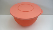 Tupperware Salad Container with Lid Salmon Colour 2.5L