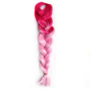 Abwin Peach Pink to Pink Twist Hair Extension