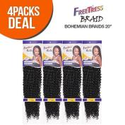 FreeTress Synthetic Hair Crochet Braids Bohemian Braids 50cm