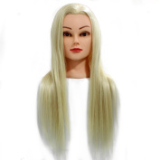 Neverland Beauty 60cm 30% Real Human Hair Hairdressing Cosmetology Mannequin Manikin Training Head Model with Clamp