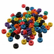 100 Mix Colourful Rubber Grommets Nipples Tattoo Machine Needles