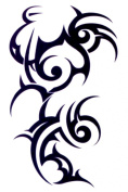 Large Tapped Out Tribal Design Temporary Tattoos / Set of 3