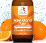 NEW xSight Sweet Orange Facial Toner by InterSight - 120ml - Finest Grade Organic Antioxidant Skin Toner for Face with Citrus Aurantium Dulcis Water, Aloe, Green Tea, Macha Rose - A Natural Exfoliant