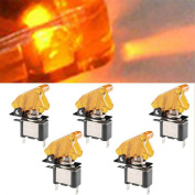 Tonsee 5PC 12V 20A LED Rocker Toggle Racing Switch SPST ON/OFF Car Truck