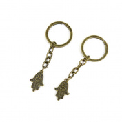 30 PCS Keyrings Keychains Key Ring Chains Tags Jewellery Findings Clasps Buckles Supplies Q7UN7 Buddha Palm