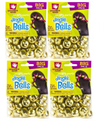 Creative Hands By Fibre-craft - 72-piece Gold Jingle Bells - 4 Pack