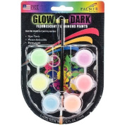 Glow-In-The-Dark Paint Pots .150ml-Assorted Colours