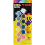 Washable Poster Paint Pots 70ml-Pastel
