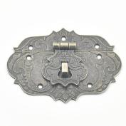 Bluemoona 5 Pcs - Latch Hook Lock Decorative Jewellery Gift Wooden Box Hasp Flower With Screws 76mmx57mm