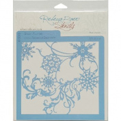 Rebecca Baer Stencil 20cm x 20cm -Snow Flurries