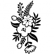 Darice Small Floral Sprig Embossing Folder