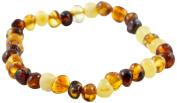 Healing Hazel 100% Balticamber Baby Necklace, Multi Polished, 14cm
