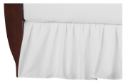 TL Care 100% Cotton Percale Crib Bed Skirt, White