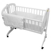 TL Care Heavenly Soft Minky Dot 3 Piece Cradle Set, White