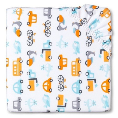 CircoTM Woven Fitted Crib Sheet - City on the Go