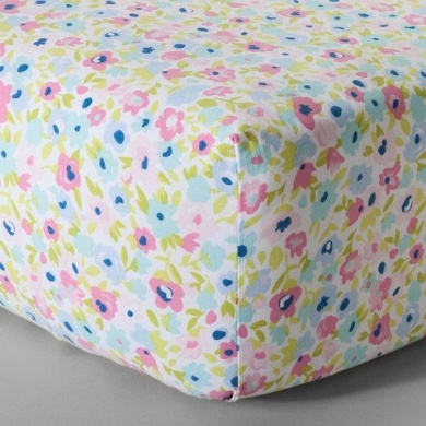 CircoTM Woven Fitted Crib Sheet - Garden Patchwork