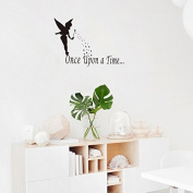 SWORNA Baby Nersery Series Angel Once Upon A Time Star Vinyl Removable DIY Kids Children Home Wall Window Sticker Decor Decal - Bedroom Living Room Kindergarten Playroom Study Hallway 50cm H X 90cm W