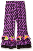 Flap Happy Baby Girls' Triple Ruffle Pant, Wisteria Waves, 24 Months