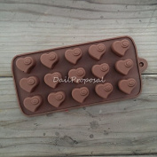 15 Heart Swirl Silicone Mould Bakeware Baking Chocolate Cake Pastry Candy Ice Butter Jello Soap Making Homemade Craft Mould Tray DIY