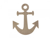 Custom WoodWorks - 43cm Unfinished Wooden Boat Anchor