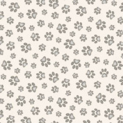 Cat Fabric - Adorable Pets - Pawprints - Cream - 100% Cotton - By The Yard