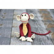 Hand Crocheted Monkey Toy for Baby